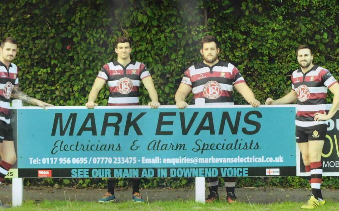 Mark Evans Sponsors Cleve Rugby Club